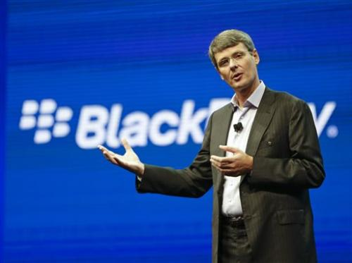 BlackBerry abandons sale process, CEO out