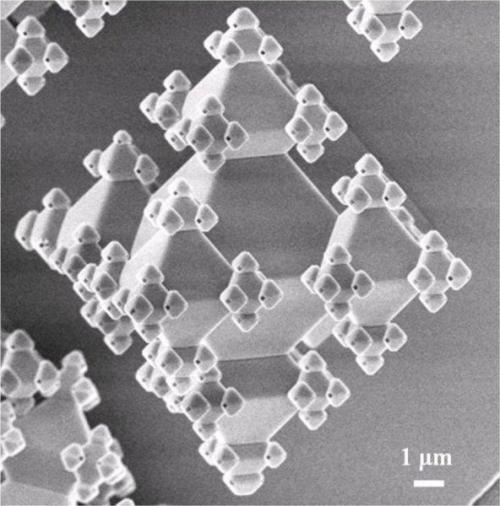 Building 3D fractals on a nano scale