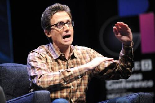 BuzzFeed founder Jonah Peretti speaks at the WIRED Business Conference in New York, on May 7, 2013