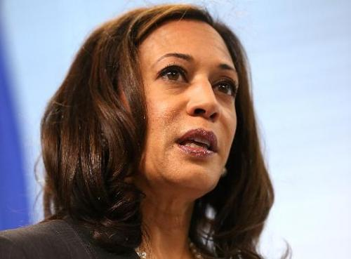 California Attorney General Kamala Harris speaks during a news conference on October 10, 2013 in San Francisco, California