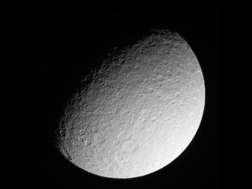 Cassini returns images of battered Saturn Moon