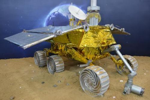 China unveils a model of a lunar rover at the China International Industry Fair 2013 in Shanghai, on November 5, 2013