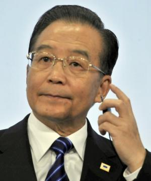 Chinese Premier Wen Jiabao, seen at the EU headquarters in Brussels, on October 6, 2010