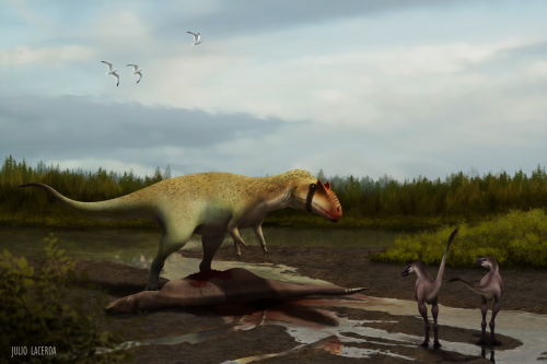 Colossal new predatory dino terrorized early tyrannosaurs