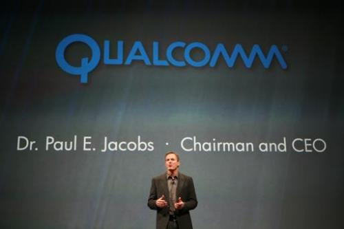 Dr. Paul E. Jacobs, chairman and CEO of Qualcomm, chip manufacturer for HP tablet and mobile phones, speaks during the WebOS eve