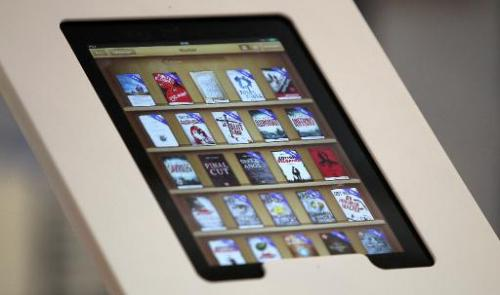 E-Books are seen on an ipad at the Frankfurt Book Fair 2013 on October 9, 2013 in Frankfurt am Main, Germany