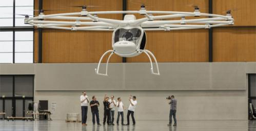 Emission-free Volvocopter takes maiden flight