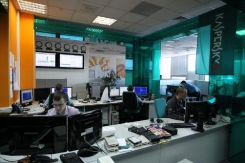 Employees of anti-virus program developer Kaspersky Lab at the firm's offices in Moscow on March 10, 2011