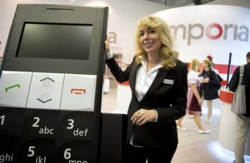 Eveline Pupeter of Emporia at the IFA  trade fair in Berlin on August 31, 2012