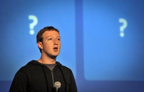 Facebook CEO Mark Zuckerberg speaks at an event at Facebook's Headquarters office in California on January 15, 2012