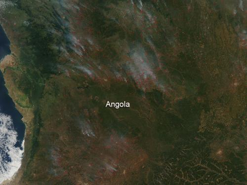 Farmland fires in Angola
