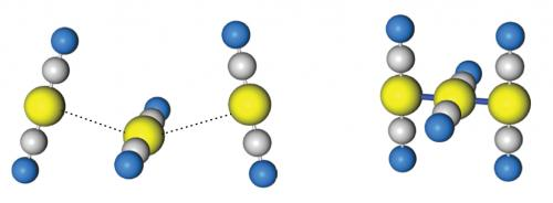 Femtosecond 'snapshots' reveal a dramatic bond tightening in photo-excited gold complexes