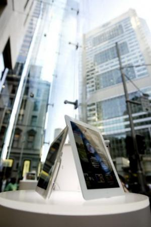 File photo of iPad tablets, displayed at an Apple store in Sydney, on March 16, 2012