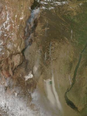 Fires in Argentina Sept. 11, 2013