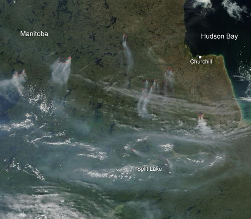 Fires in Manitoba, Canada
