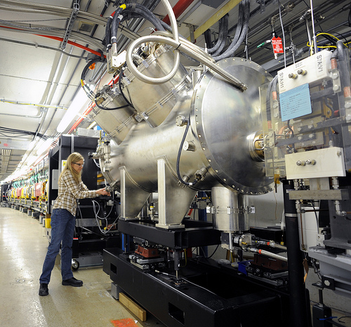 First light from the first high-energy superconducting undulator