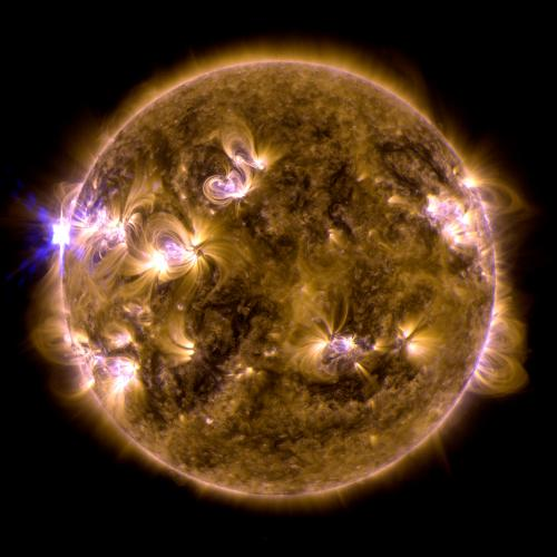 First X-class solar flare of 2013