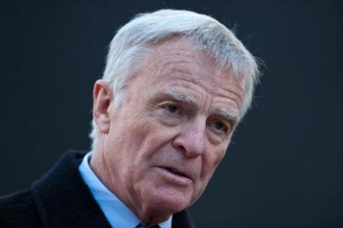 Former FIA chairman Max Mosley speaks to the press in central London on November 29, 2012