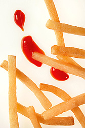 French fries' oil content: it's lower with infrared heat