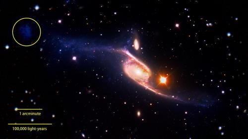 GALEX reveals the largest-known spiral galaxy