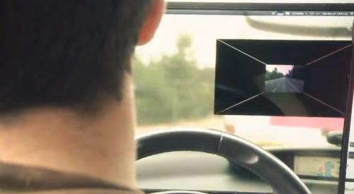 University team has AR See-Through System for safe driving