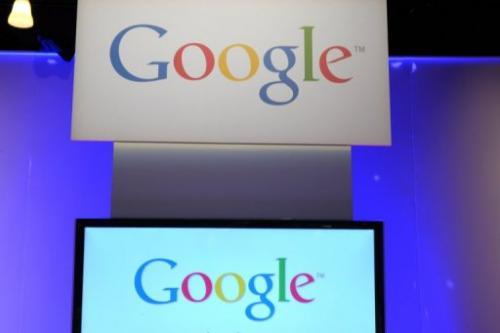 Google logo is seen on December 4, 2012 in Saint-Denis, Paris