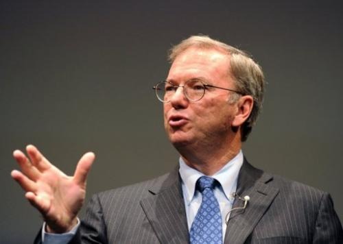 Google's Chairman Eric Schmidt, pictured September 25, 2012, plans to sell 3.2 million