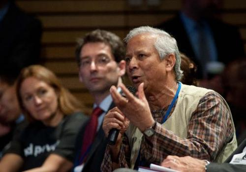Grameen Bank founder Muhammad Yunus in Washington, DC on April 19, 2013