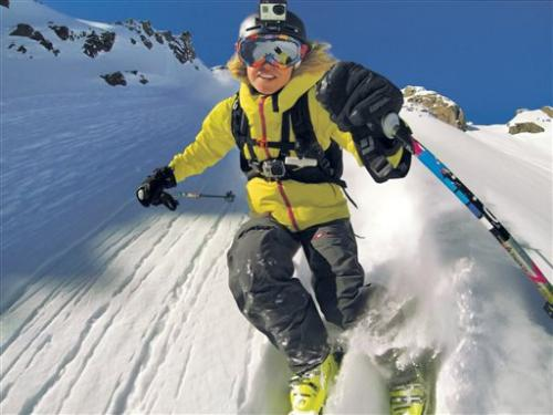 Helmet camera craze: Skiers record their own runs