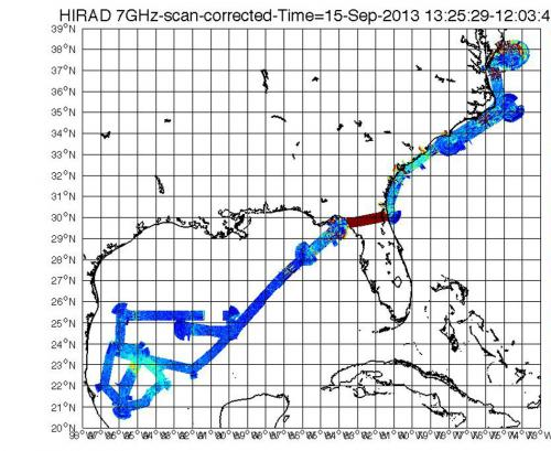 HS3 mission identifies area of strong winds, rain in Hurricane Ingrid
