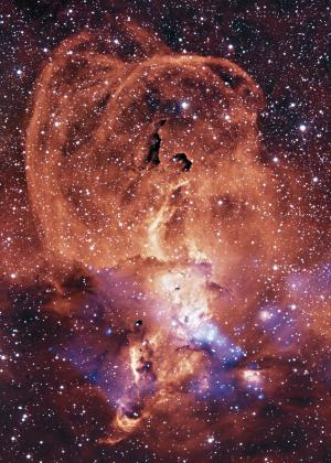 Image: NGC 3576: Glowing gas in the milky way