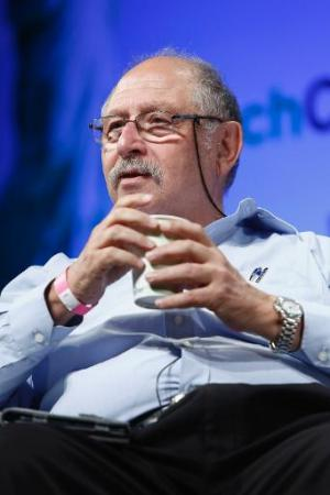 Israeli hi-tech entrepreneur Yossi Vardi speaks during the TechCrunch seminar in New York City, on April 29, 2013