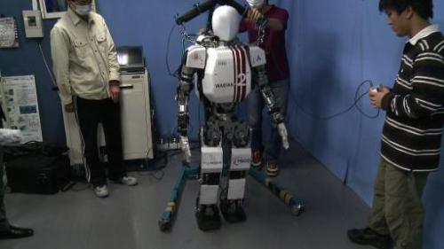 Japan researchers unveil latest robotic creations