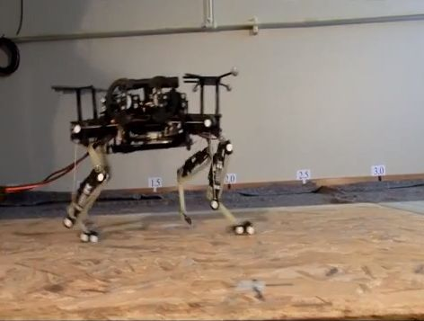 Researchers use gait primitives from real animals to simulate movement in robots (w/ video)