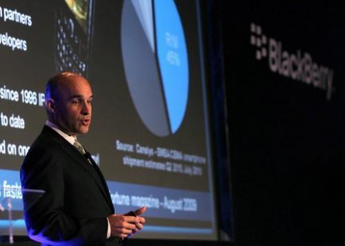 Jim Balsillie speaks in Dubai on October 18, 2010