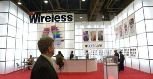 Just Wireless booth, pictured at the 2013 International CES at the Las Vegas Convention Center, on January 10, 2013