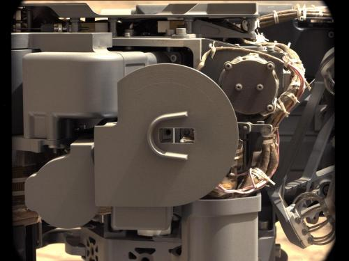 Lab Instruments Inside Curiosity Eat Mars Rock Powder