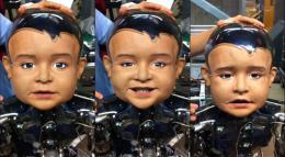 Machine perception lab shows robotic one-year-old on video