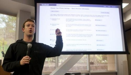 Mark Zuckerberg, CEO of Facebook, holds a press conference on May 26, 2010 in Palo Alto, California