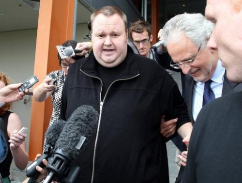Megaupload boss Kim Dotcom, pictured in Auckland, on February 22, 2012