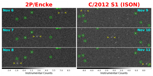 MESSENGER detects comets ISON and Encke, prepares for closer encounters