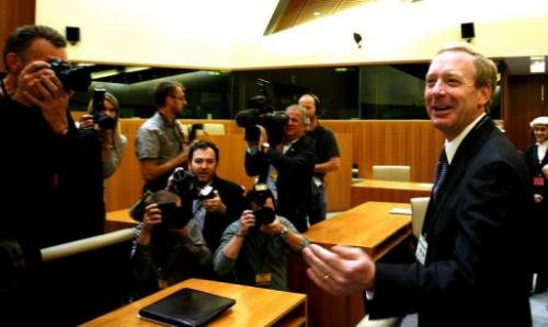 Microsoft Corp. legal chief Brad Smith speaks on September 17, 2007 in Luxembourg