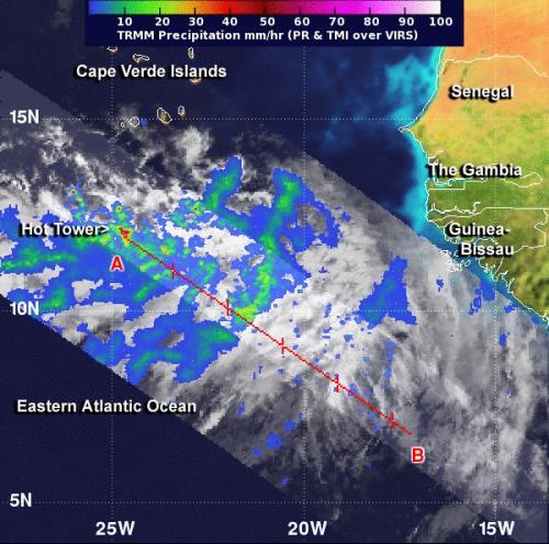 NASA data showed Tropical Storm Erin forming