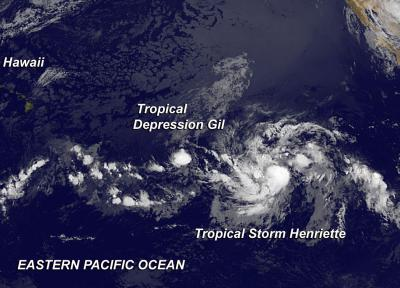 NASA eyes 2 Eastern Pacific tropical cyclones: 1 up, 1 down