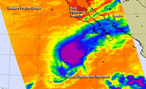 NASA eyes a 'decoupled' Tropical Depression Raymond