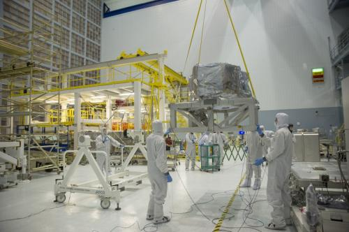 NASA image: NIRSpec's clean room move