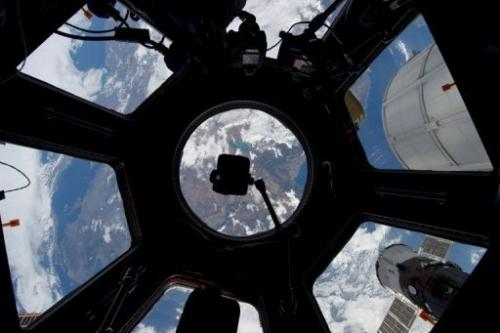 NASA image photographed through the Cupola on the International Space Station on December 29, 2011