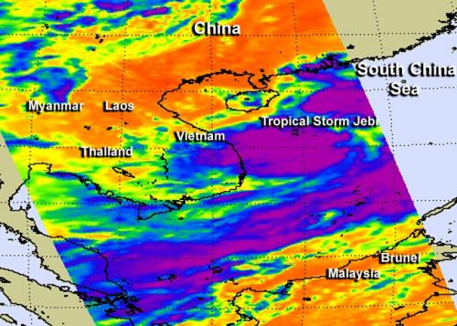 NASA looks at Tropical Storm Jebi in South China Sea