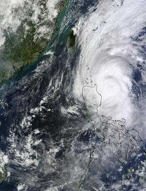 NASA sees Halloween Typhoon Krosa lashing Luzon, Philippines