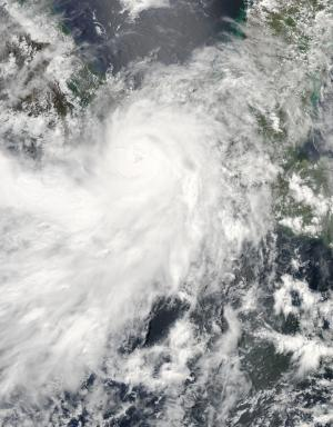 NASA sees Hurricane Barbara quickly weaken to a depression